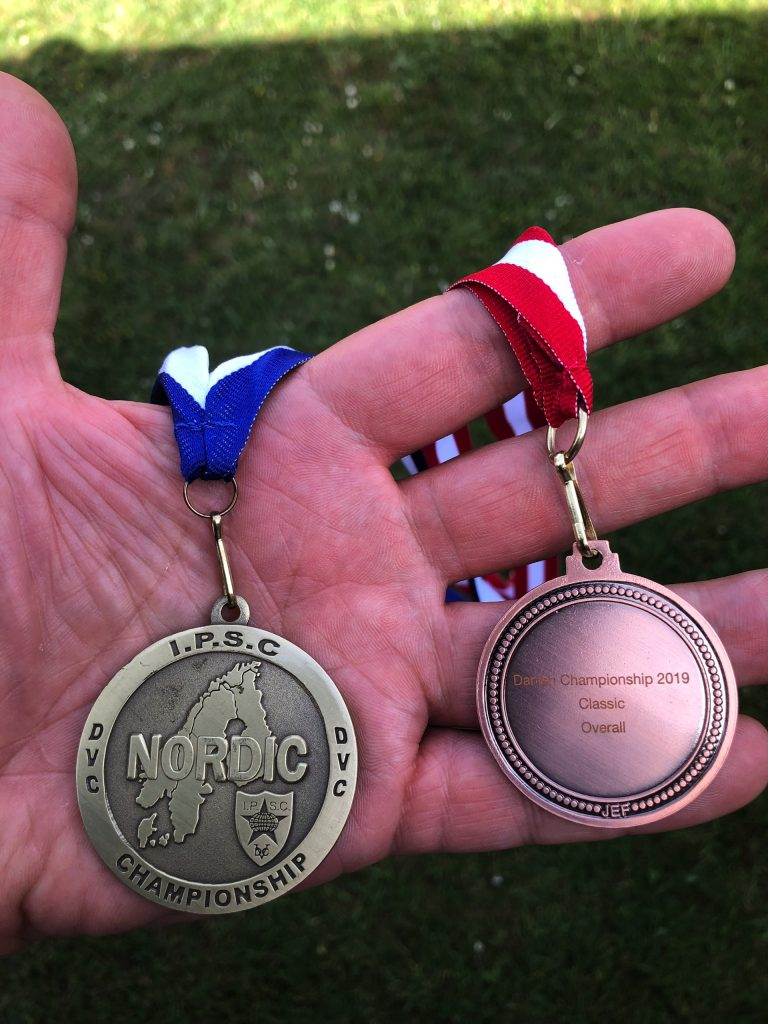 Medals from nordic IPSC championship